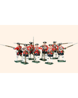 654 Toy Soldiers Set British Infantry Painted