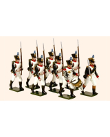 717 Toy Soldiers Set French Line Infantry Fusiliers Marching Painted