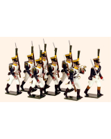 724 Toy Soldiers Set French Line Infantry Voltigeurs Marching Painted