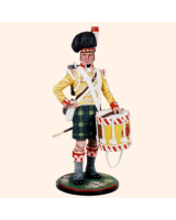 AS90 17 Drummer 92nd Foot Gordon Highlanders 1815 Painted