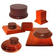 Wooden, Metal Plinths and Bases