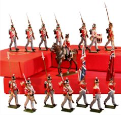 Toy Soldiers in 54mm painted in gloss