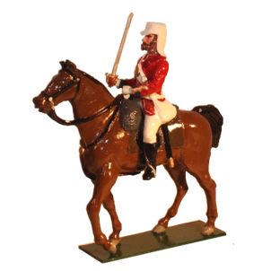 Officer Mounted 42nd Highlander The Black Watch Painted