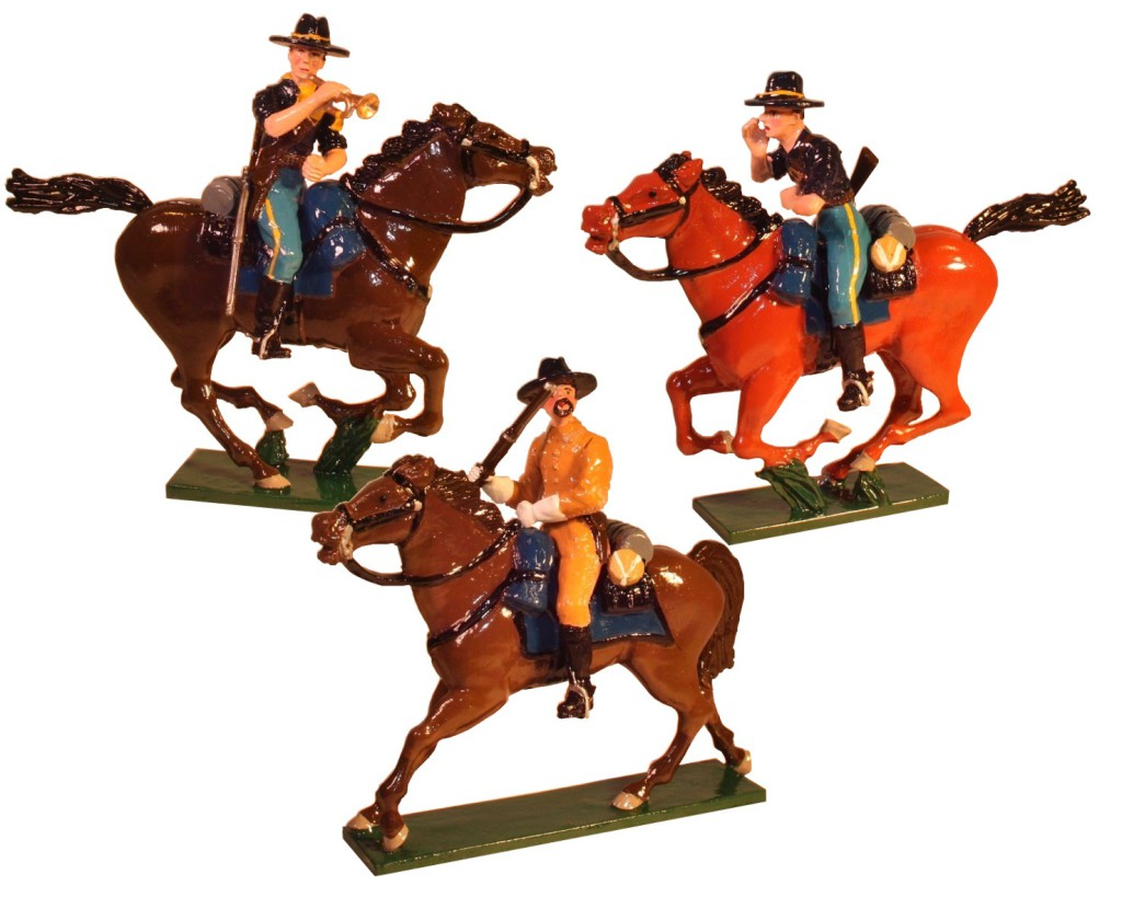 American Indian Wars Toy Soldiers Painted in Gloss Size 54mm New! Toy set 1207 - 7th Cavalry regiment