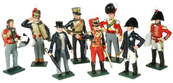 Toy Soldiers Wellington At Waterloo Set 752 Painted