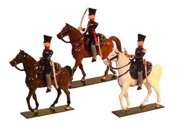 778 Toy Soldier Set Landwehr Cavalry Prussian Napoleonic War