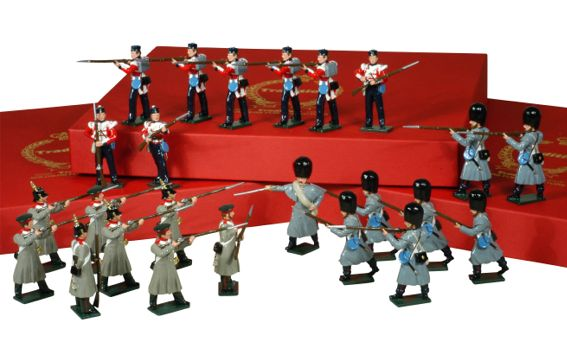 Toy Soldiers 54mm Painted in Gloss Crimean War 1854-1856