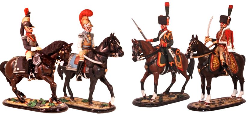 French Napoleonic Troops Mounted