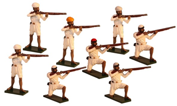The Indian Rebellion Toy Soldiers Set 1106 Painted