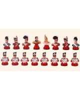 Chess set The British armies 16 busts Painted