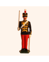 0034 3 Toy Soldier Trooper at Attention The 11th Prince Alberts Own Hussars Kit