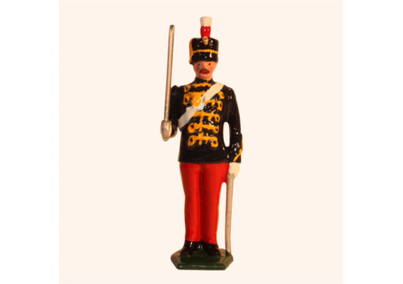 034b 3 Toy Soldier Trooper at Attention The 11th Prince Alberts Own Hussars Kit