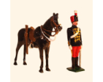 035b 4 Toy Soldier Dismounted Trooper with Horse The 11th Prince Alberts Own Hussars Kit