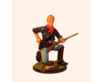 Sqn80 126 Trooper kneeling loading 7th. U.S. Cavalry 1876 Kit
