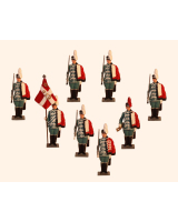 D8A Toy Soldiers Set Danish Garder Hussar Regiment Painted