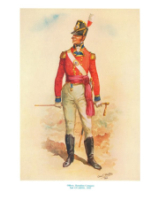 Charles C. Stadden Plate - No.006 - Officer Battalion Company 2nd Guards 1815