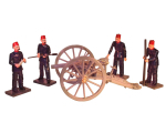 SF105-106 Krupp 12 Pdr and Egyptian Gunners set Painted
