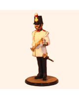 Sqn80 030 Bandsman at attention with Keyed bugle 11th Foot 1858 Kit