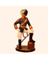 Sqn80 058 Officer Gwalior State Force Mountain Artillery circa 1896 Painted