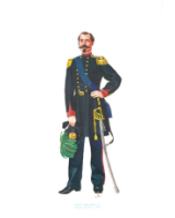 Plate ToL No.016 Bersaglieri Rifles Captain full dress 1864
