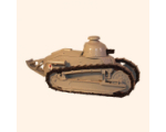 823 Toy Soldier Set Renault FT17 Tank with Gun Painted
