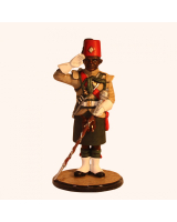 Sqn80 001 Drum Major, Saluting King's African Rifles circa 1956 Kit