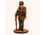 Sqn80 027 Jäger at attention with ordered Arms Prussian Garde Jäger Regiment circa 1900 Gemalt