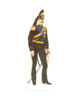 Plate ToL No.018 Artiglieria A Cavallo Horse Artillery Captain full dress 1864