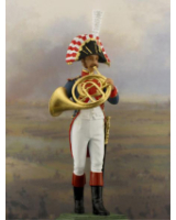 NF1084-01 French Horn player Year 1810 Painted