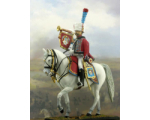 NF5005 Trumpeter of Chasseurs a Cheval of Old Guard in full parade uniform year 1806-1812 Painted