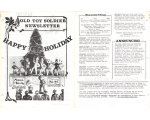 Old Toy Soldier Newsletter 1977 Volume 2 Number 2 Happy Holiday