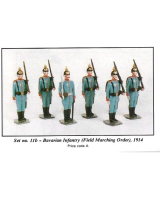 0011B Toy Soldiers Set Bavarian Infantry Field Marching Order 1914 Painted