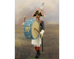 NF1090-01 Bass drum player Year 1810 Painted