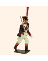 0723 1 Toy Soldier Grenadier Officer advancing Kit