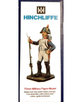 75/03 Model Soldier - French Grenadier, 1807, in an on-Guard defensive position - Unpainted