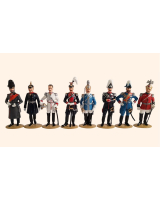 0098 Toy Soldiers Set Kaiser Wilhelm II The Imperial German Army Part II Painted