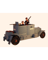 0830 Toy Soldier Set The Minerva Armoured Car with three Crew - Unpainted, Kit