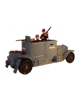 830 Toy Soldier Set The Minerva Armoured Car with three Crew Painted