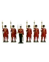 0061 Toy Soldiers Set Beefeaters Painted