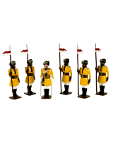 0007a Toy Soldiers Set 1st Bengal Lancers 1901 Painted