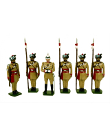 0044 Toy Soldiers Set Corps of Guide Cavalry 1900 Painted