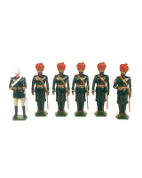 0045 Toy Soldiers Set Mountain Artillery Battery 1900 Painted