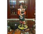 The Black Watch Bagpiper Napoleonic War circa 1815 - 230mm in size Painted