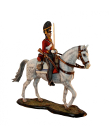 M90 06 Trooper The Scots Greys 2nd North British Dragoons 1815 - 90mm Painted in Matt