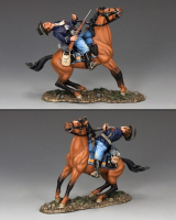 "TRW067 ""Fatal Shot"" One more U.S. Cavalry casualty...reins in his horse as an Indian bullet strikes home! King and Country"
