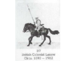 B07 - British Colonial Lancer circa 1890-1902 - Unpainted