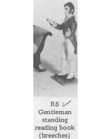R08 - Gentleman standing reading, book, breeches - Unpainted