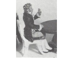 R10 - Gentleman seated playing cards, only figure - Unpainted