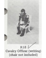 R18 - Cavalry Officer writing, chair not included - Unpainted