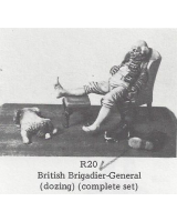 R20 - British Brigadier-General, dozing, complete set - Unpainted